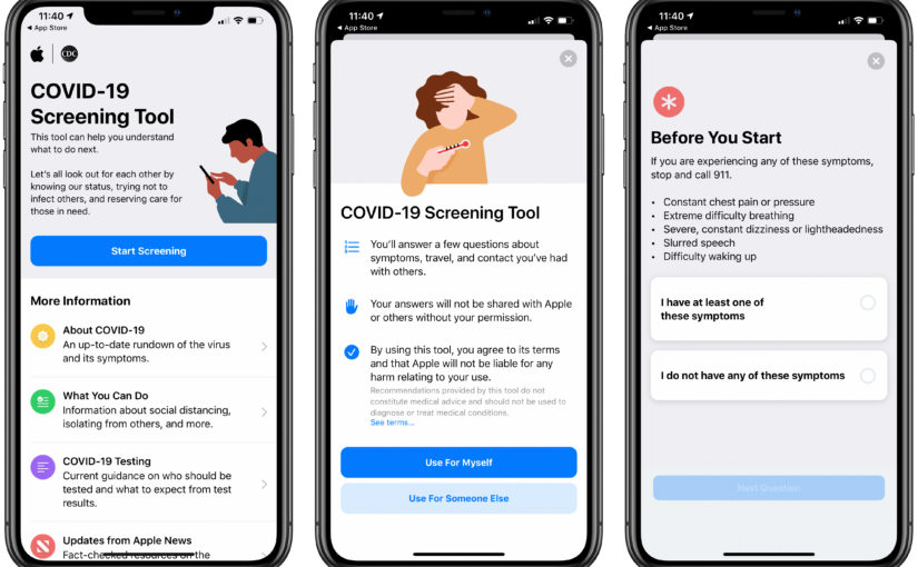 Apple Launches New COVID-19 Screening App