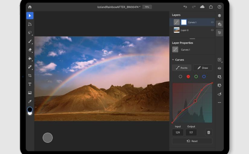 Adobe Photoshop for iPad Adds Curves, Brush Sensitivity