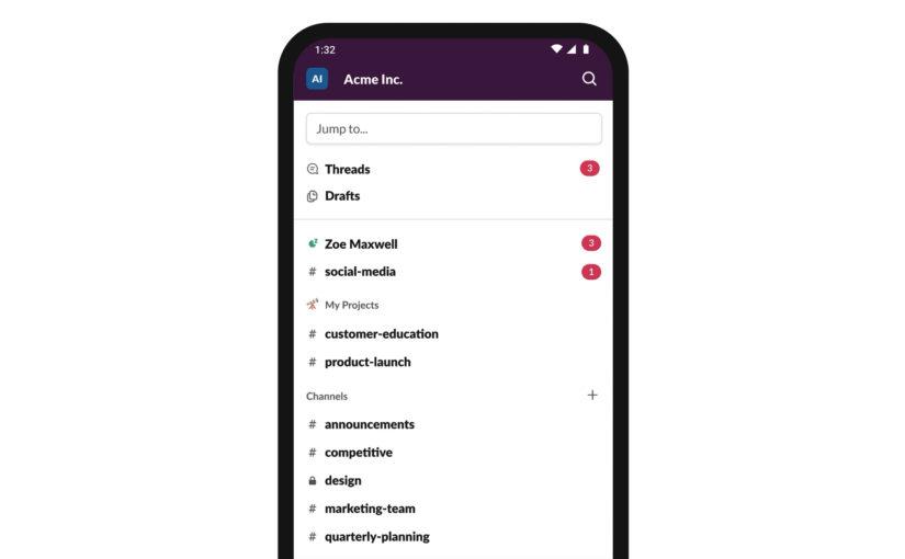 Slack App Update Brings New Navigation Bar and More Changes