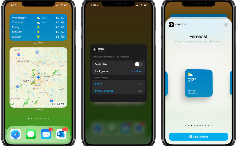 Carrot Weather is Ready for iOS 14, watchOS 7 With Widgets and More