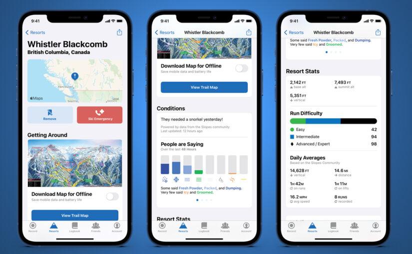 With Ski Season Nearing, Slopes Update Brings Resort Maps, Home Screen Widgets