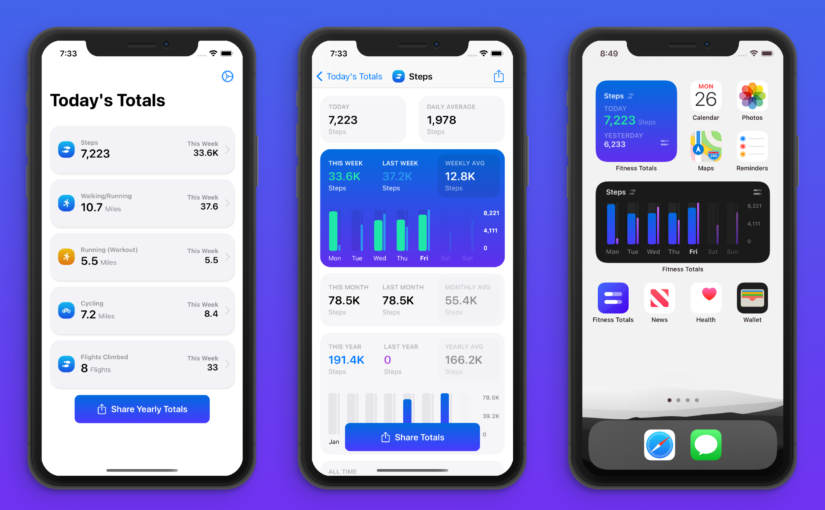 Fitness Totals Update Brings New Charts, Additional Activities and More